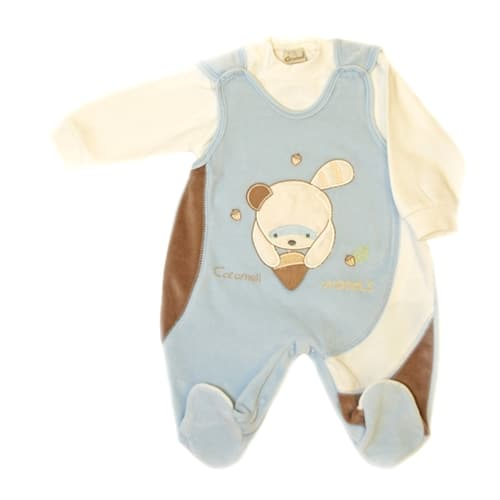 Baby Jump Suit - Two Piece Set blue