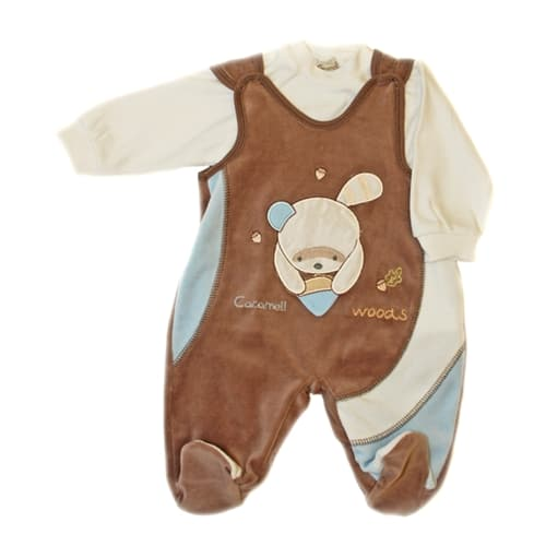 Baby Jump Suit - Two Piece Set brown