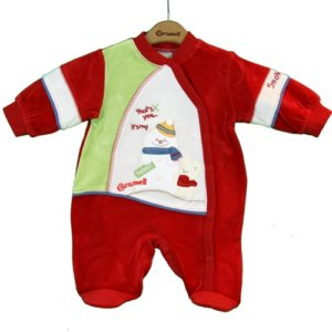 BABY SNOWMAN OUTFIT red