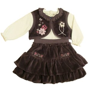 BABY GIRL RUFFLED DRESS