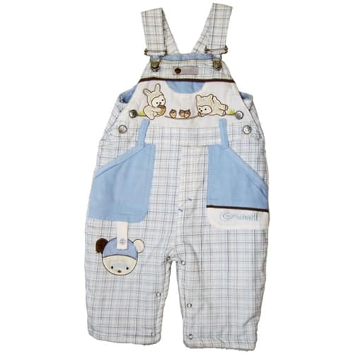 "BABY WINTER JUMP SUIT ""KEEP ME COZY"" blue"