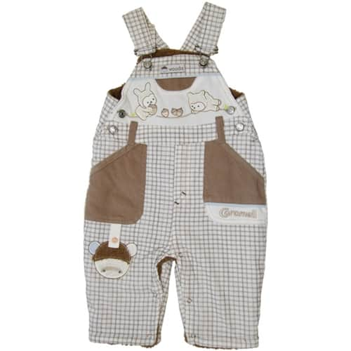 "BABY WINTER JUMP SUIT ""KEEP ME COZY"" brown"