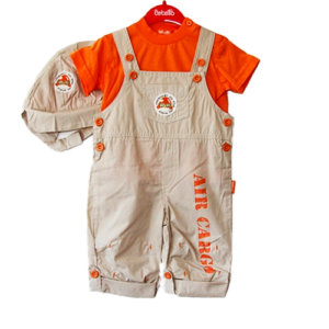 Airplane Air Cargo 3 Piece Boy Set with Hat