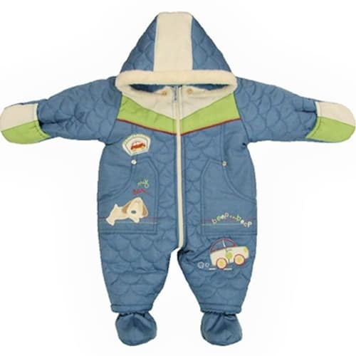BABY ESKIMO SUIT DOG AND CAR - QUILTED