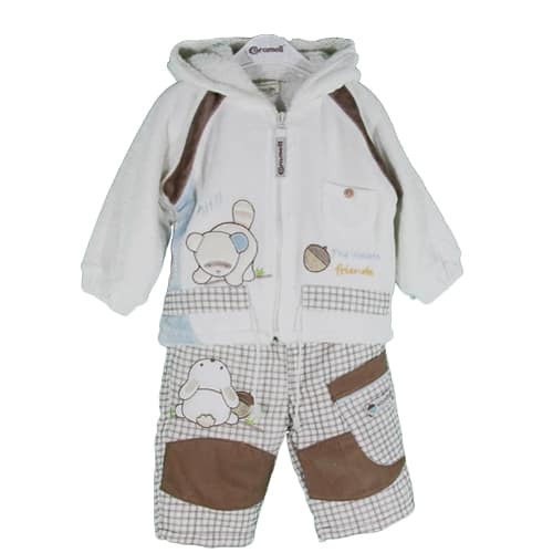 BABY RACOON SET JACKET AND PANTS