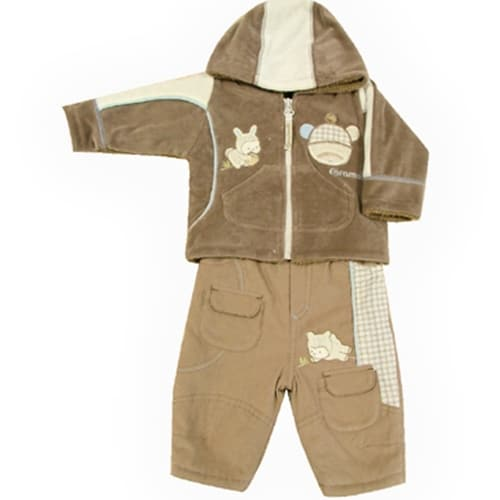 BABY SET WOODS FRIENDS JACKET AND PANTS