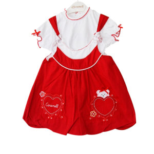 Baby Girl Cupcake Dress Red