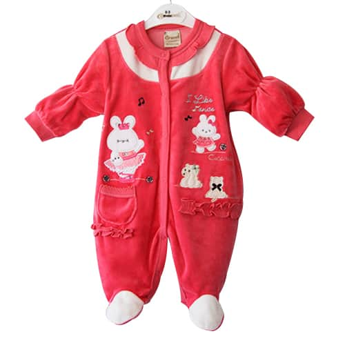 Baby Girl Jumpsuit Bunny and Music
