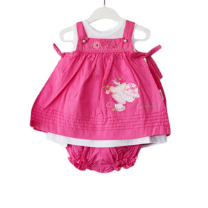 Baby Girl Strawberry Dress magenta