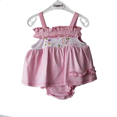 Caramel Flowers Baby Girl DressCaramel Flowers Baby Girl Dress_pink