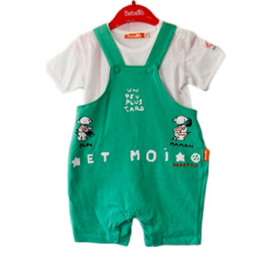 FRENCH PUPPY TWO PIECE BABY BOY SET