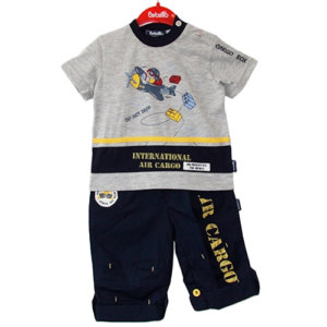 Flying Airplane Two-Piece Baby Boy Set