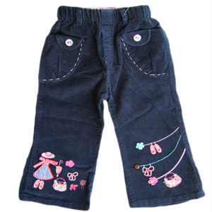 Girl Pants with Shoes Navy