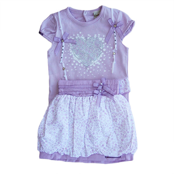 Hearts and Dots Baby Girl Dress purple