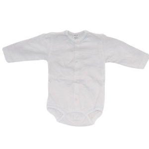 Long Sleeve White Baby Body