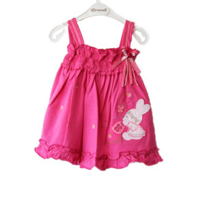 Very Summery Baby Girl Dress Bunnies and Bows